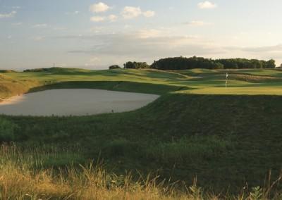 Blackwolf Run Meadow Valleys Golf Course Hole 16 Rolling Thunder Green