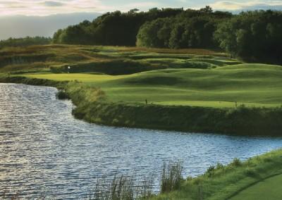 Blackwolf Run Meadow Valleys Golf Course Hole 8 Wet and Wild Tee