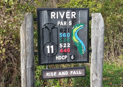Blackwolf Run - River Golf Course Hole 11 Rise and Fall Sign