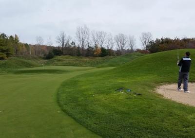 Blackwolf Run - River Golf Course Hole 15 The Sand Pit Approach