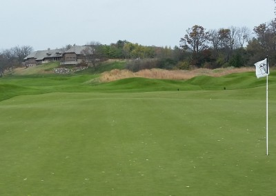 Blackwolf Run - River Golf Course Hole 16 Unter Der Linden Clubhouse View