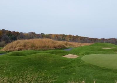 Blackwolf Run - River Golf Course Hole 2 Burial Mounds Hay