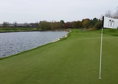 Blackwolf Run - River Golf Course Hole 4 Swan Lake Green