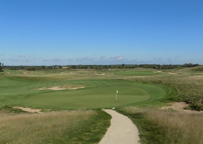 Erin Hills Golf Course Hole 5 Green Elevated
