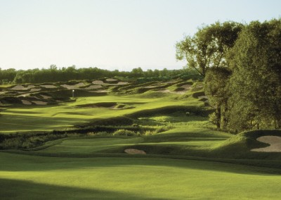 Whistling Straits Irish Course Hole 6 Bunkers