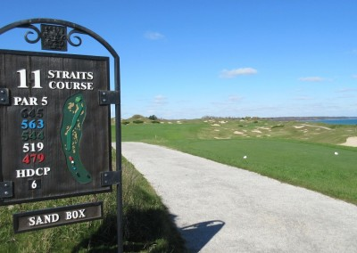 Whistling Straits - Straits Course Hole 11 Sand Box Sign