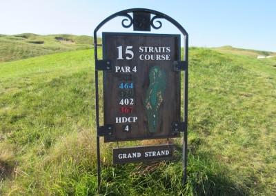 Whistling Straits - Straits Course Hole 15 Grand Strand Sign