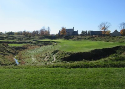 Whistling Straits - Straits Course Hole 18 Dyeabolical Approach