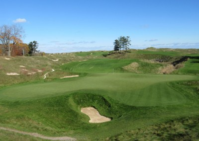 Whistling Straits - Straits Course Hole 18 Dyeabolical Green