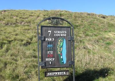 Whistling Straits - Straits Course Hole 7 Shipwreck Hole Sign