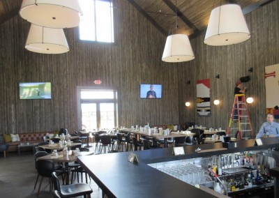 Sand Valley Golf Resort Clubhouse Bar Tables