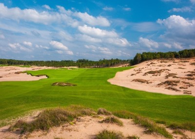 Sand Valley Golf Resort Mammoth Dunes Course Hole 1 STOCK