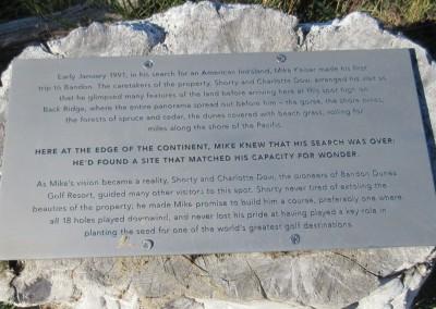 Bandon Trails Hole 14 Vista Sign